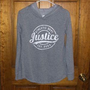 Girls Justice hooded sweatshirt size 14
